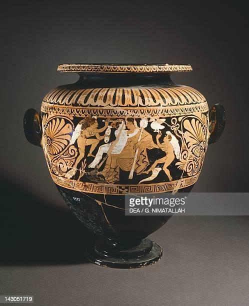 Stamnos Redfigure pottery from Porano Etruscan Civilisation 4th Century BC Orvieto Museo Claudio Faina