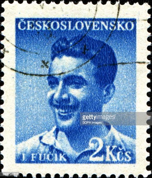 CIRCA 1949 A stamp printed in Czechoslovakia shows Julius Fucik