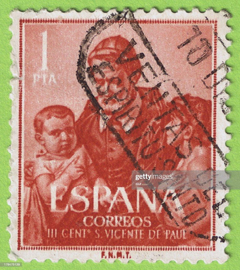 Stamp Spain Sello Espaa Stock Photo
