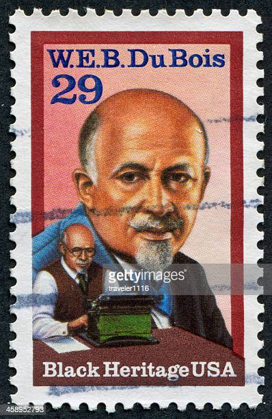 w.e.b. du bois stamp - black history stock photos and pictures