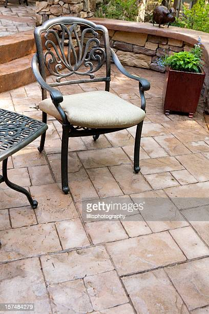 stamped concrete patio - seal stock pictures, royalty-free photos & images