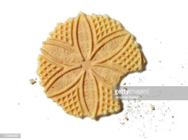 Stamped Cookie with a Bite Missing