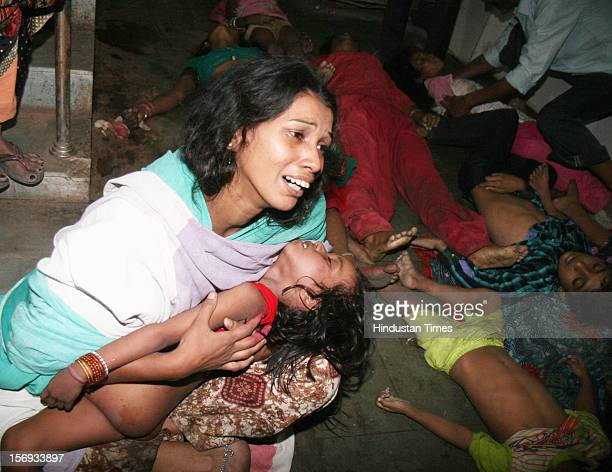 Stampede victims during Chhath Puja at Patna Medical College Hospital on November 19 in Patna India At least 17 Chhath devotees were killed in the...