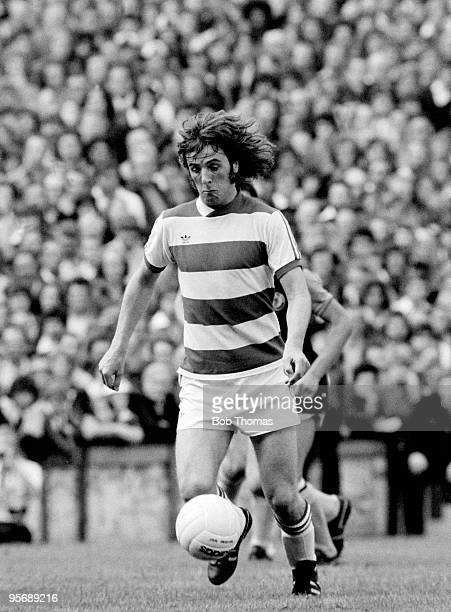 Stan Bowles in action for Queens Park Rangers against Aston Villa in the First Division league match at Loftus Road in London 20th August 1977 Aston...