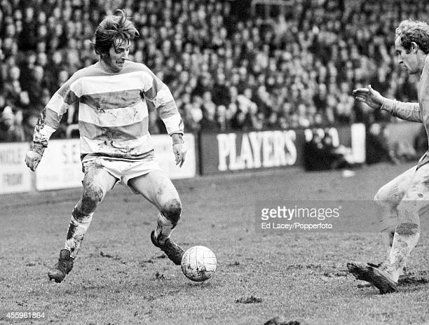 Stan Bowles in action for Queens Park Rangers against Everton at Loftus Road in London on 12th January 1974 Queens Park Rangers won 10