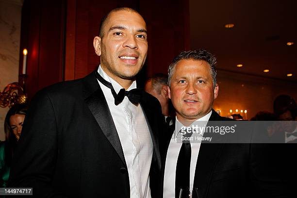 Stan Collymore and Darren Gough attend the British Sport Book Awards on May 21 2012 in London England