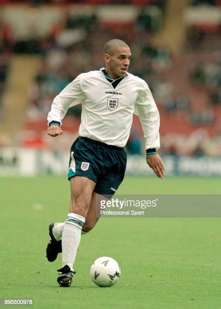 Stan Collymore of England in action during the Umbro Cup match between England and Japan at Wembley Stadium on June 03 1995 in London England