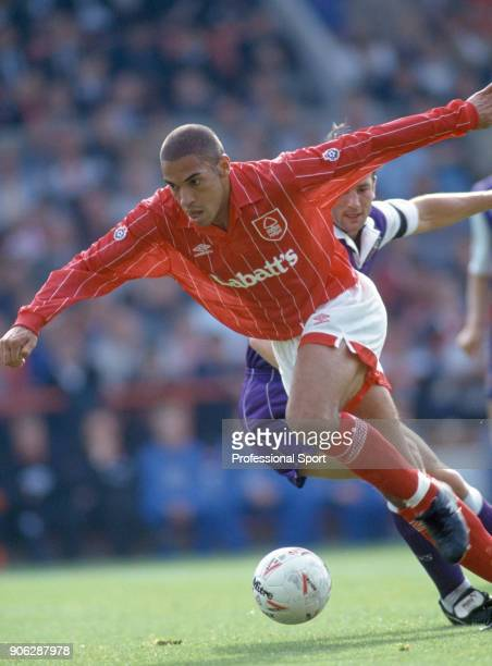 Stan Collymore of Nottingham Forest in action during the Endsleigh League Division One match between Nottingham Forest and Stoke City at the City...