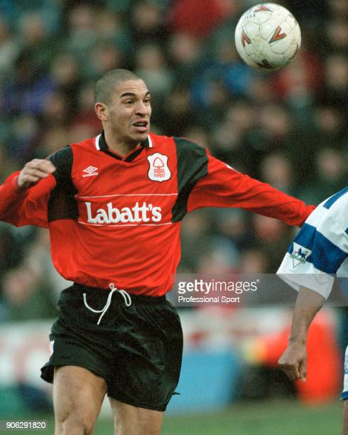 Stan Collymore of Nottingham Forest in action during the FA Carling Premiership match between Queens Park Rangers and Nottingham Forest at Loftus...