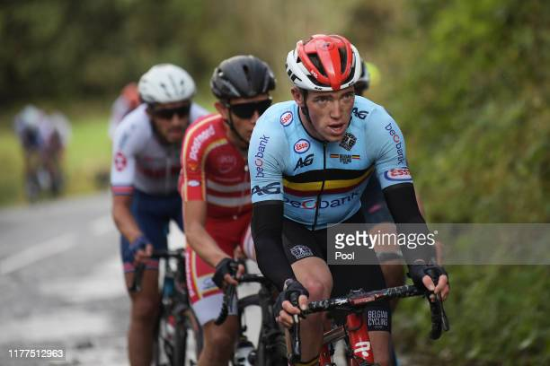 Stan Dewulf of Belgium / during the 92nd UCI Road World Championships 2019 Men Under 23 Road Race a 173km race from from Doncaster to Harrogate 121m...