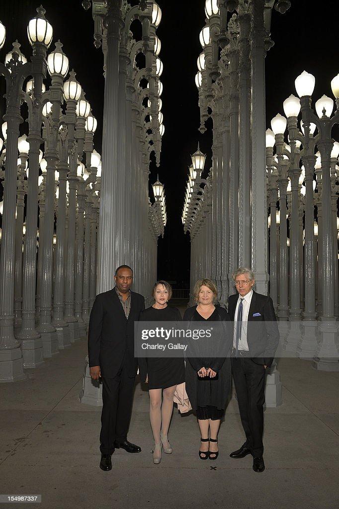 Stan Douglas, Diana Thater, Patti Podesta and T  Kelly Mason