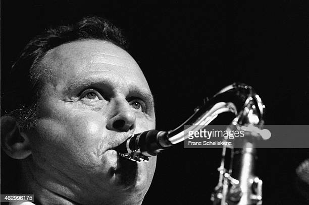 Stan Getz, tenor sax, performs at the North Sea Jazz Festival in the Hague, the Netherlands on 13 July 1990.