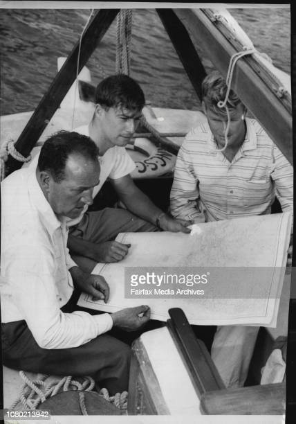 1956 13th 1957 7th 1958 16th 1959 24thSydney Hobart preparations at CVC Rushcutters bayStan Gibson of Pascoe Vale Melbourne their Boat December 23...