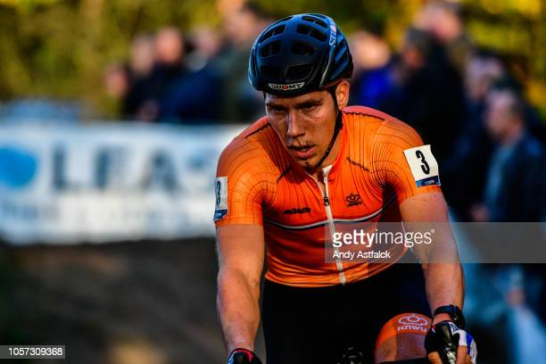 Stan Godrie of Netherlands in action during Day 3 of the Men's Elite European Cyclocross Championships on November 04, 2018 in 's-Hertogenbosch,...