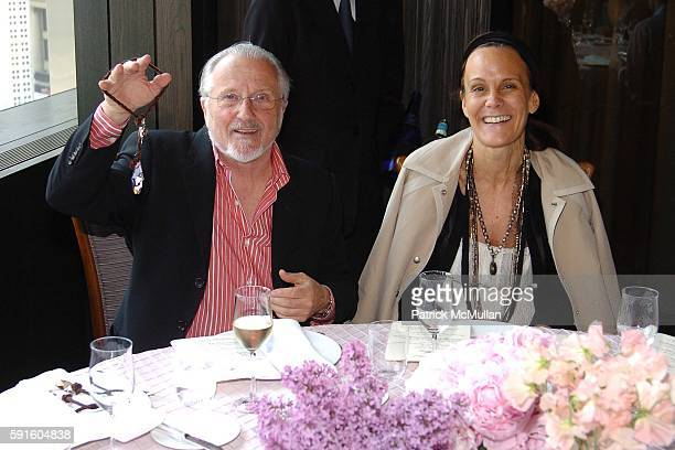 Stan Herman and Julie Gilhart attend SWAROVSKI Luncheon to Celebrate the 2005 CFDA Fashion Award Nominees and Honorees hosted by Nadja Swarovski and...