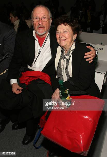 Stan Herman and Ruth Finley attend the Jeffrey Chow Fall 2005 fashion show during the Olympus Fashion Week at Bryant Park February 10 2005 in New...