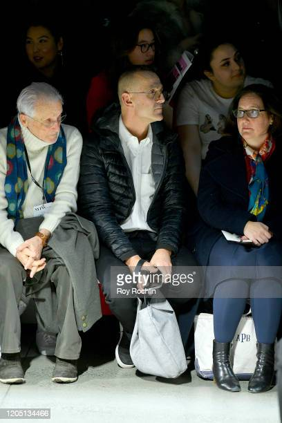 Stan Herman and Steven Kolb attend the Dennis Basso front row in Gallery I of Spring Studios during New York Fashion Week The Shows Day 4 at Spring...