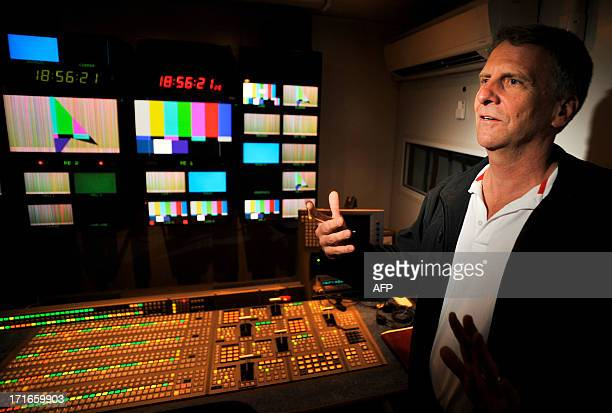Stan Honey Director of Technology for the 2013 America's Cup talks about the innerworkings of the control room before a media preview event of the...