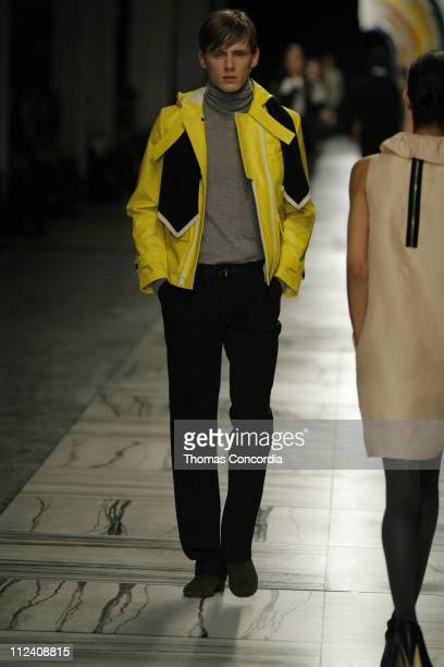 Stan Jouk wearing 3.1 Phillip Lim Fall 2007 during Mercedes-Benz Fashion Week Fall 2007 - 3.1 Phillip Lim - Runway at Waterfront Building in New York...