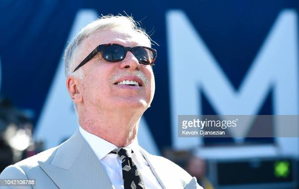 Stan Kroenke makes an appearance ahead of the game between the Los Angeles Rams and the Minnesota Vikings at Los Angeles Memorial Coliseum on...