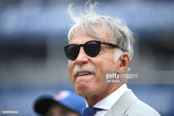 Stan Kroenke owner of the Los Angeles Rams before the game against the Washington Redskins at Los Angeles Memorial Coliseum on September 17 2017 in...