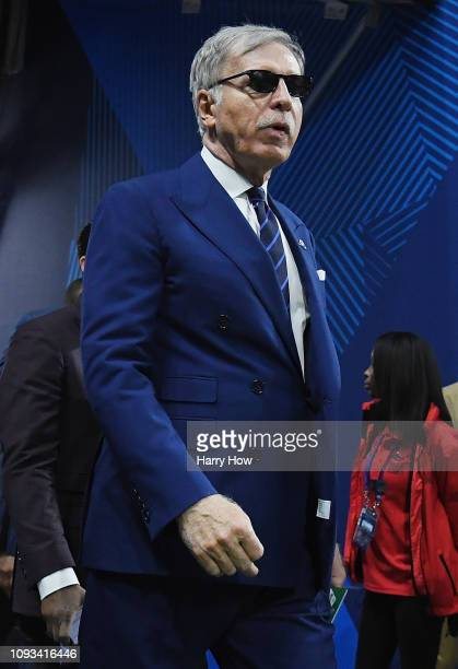 Stan Kroenke owner of the Los Angeles Rams walks out of the tunnel prior the Super Bowl LIII at MercedesBenz Stadium on February 3 2019 in Atlanta...
