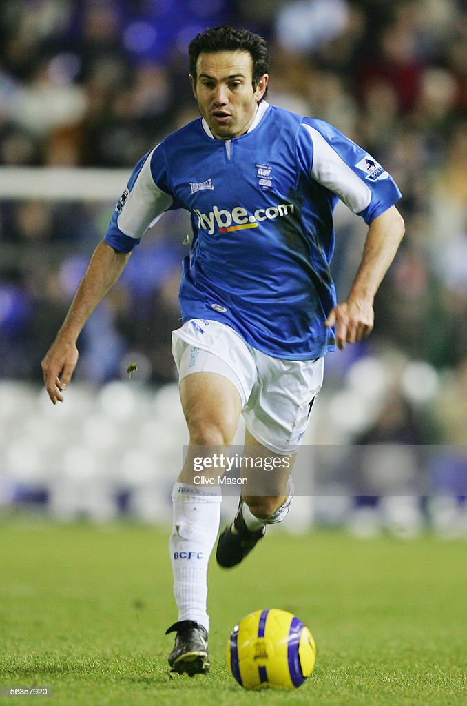 Stan Lazaridis of Birmingham City in action during the Barclays Premiership match between Birmingham City and West Ham United at St Andrews Road on December 5, 2005 in Birmingham, England.