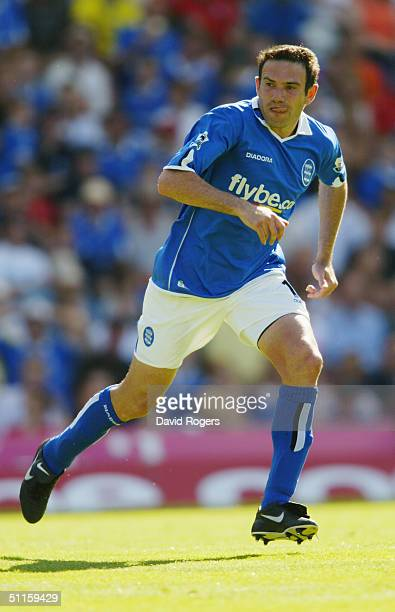 Stan Lazaridis of Birmingham City in action during the preseason friendly match between Birmingham City and Osasuna at St Andrews on August 7 2004 in...