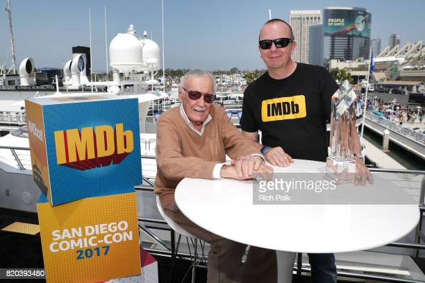 Stan Lee and Founder and CEO of IMDb Col Needham at the #IMDboat At San Diego ComicCon 2017 on the IMDb Yacht on July 21 2017 in San Diego California