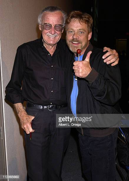 Stan Lee and Mark Hamill during 2002 San Diego Comic Con International Day One at San Diego Convention Center in San Diego California United States