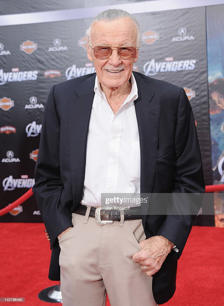 Stan Lee arrives at the Los Angeles Premiere of 'The Avengers' at the El Capitan Theatre on April 11, 2012 in Hollywood, California.
