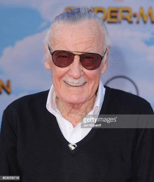 Stan Lee arrives at the Los Angeles Premiere 'SpiderMan Homecoming' at TCL Chinese Theatre on June 28 2017 in Hollywood California