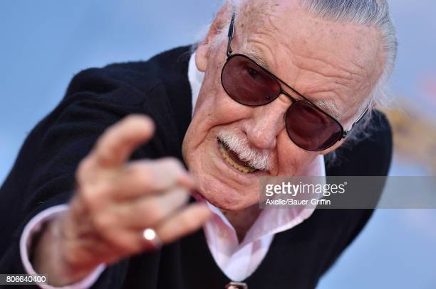 Stan Lee arrives at the premiere of Columbia Pictures' 'SpiderMan Homecoming' at TCL Chinese Theatre on June 28 2017 in Hollywood California