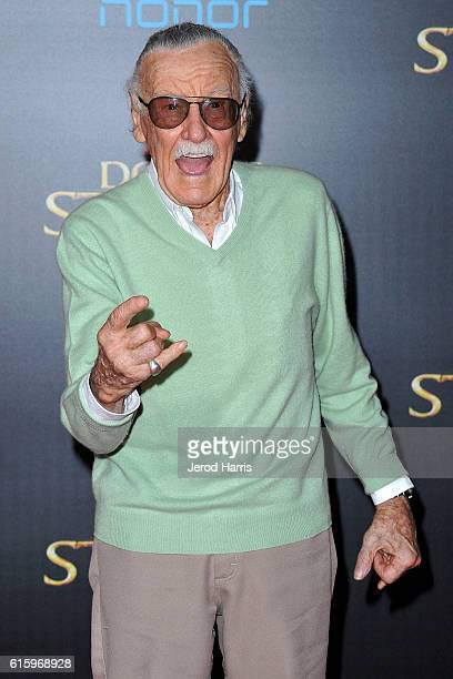 Stan Lee arrives at the Premiere of Disney and Marvel Studios' 'Doctor Strange' on October 20, 2016 in Hollywood, California.