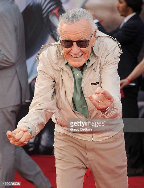"Stan Lee arrives at the premiere of Marvel Studios ""Ant-Man"" at Dolby Theatre on June 29, 2015 in Hollywood, California."