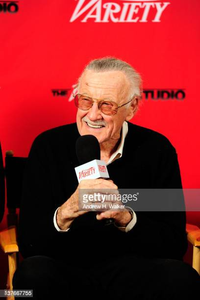 Stan Lee attends Day 4 of The Variety Studio during the 2012 Sundance Film Festival held at Variety Studio At Sundance on January 24 2012 in Park...