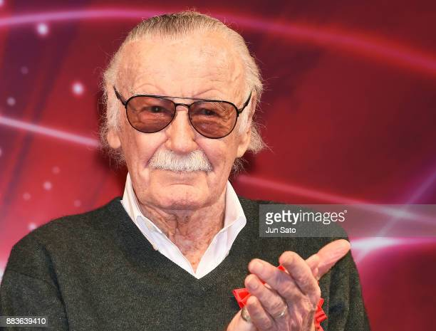 Stan Lee attends the opening day of Tokyo Comic Con at Makuhari Messe on December 1 2017 in Chiba Japan