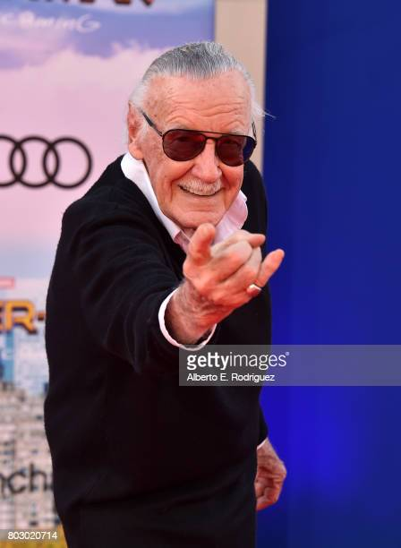 Stan Lee attends the premiere of Columbia Pictures' 'SpiderMan Homecoming' at TCL Chinese Theatre on June 28 2017 in Hollywood California