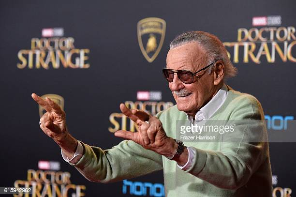 Stan Lee attends the premiere of Disney and Marvel Studios' Doctor Strange at the El Capitan Theatre on October 20 2016 in Hollywood California