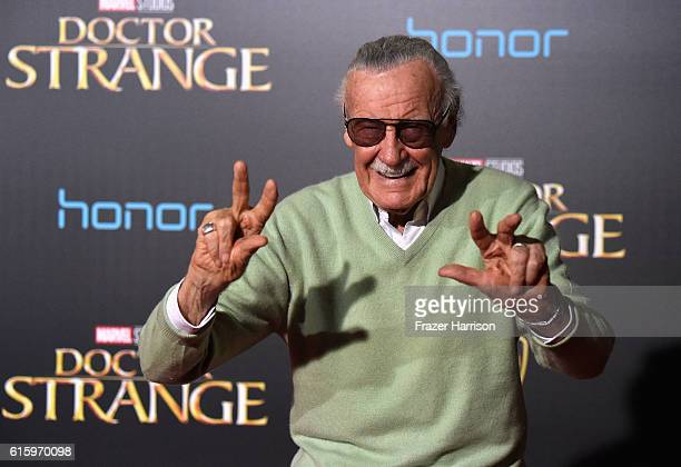 Stan Lee attends the Premiere of Disney and Marvel Studios' Doctor Strange on October 20 2016 in Hollywood California