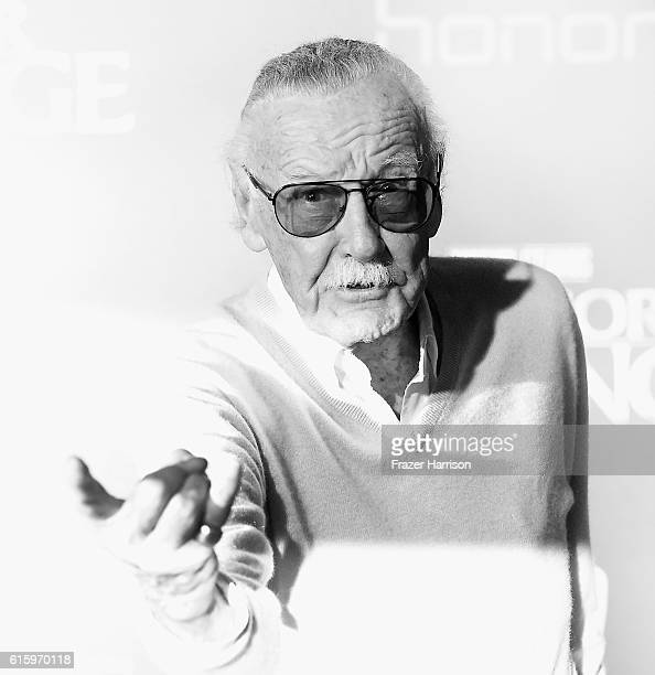 Image conmverted from color to Black and white Stan Lee attends the Premiere of Disney and Marvel Studios' Doctor Strange on October 20 2016 in...