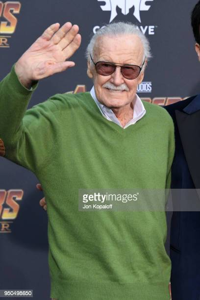 Stan Lee attends the premiere of Disney and Marvel's 'Avengers: Infinity War' on April 23, 2018 in Los Angeles, California.