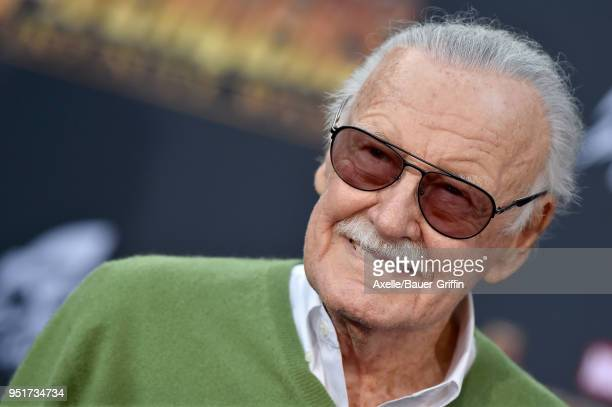 Stan Lee attends the premiere of Disney and Marvel's 'Avengers Infinity War' on April 23 2018 in Hollywood California