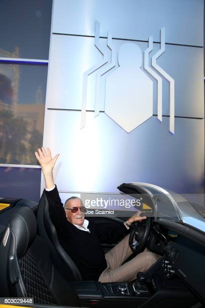 Stan Lee attends the World Premiere of 'SpiderMan Homecoming' hosted by Audi at TCL Chinese Theatre on June 28 2017 in Hollywood California