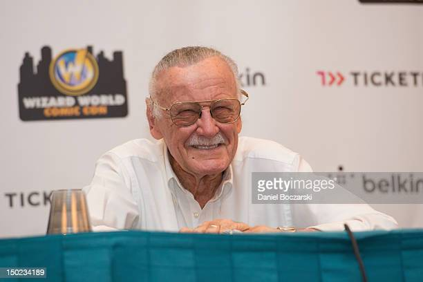 Stan Lee attends Wizard World Chicago Comic Con 2012 at Donald E Stephens Convention Center on August 12 2012 in Rosemont Illinois