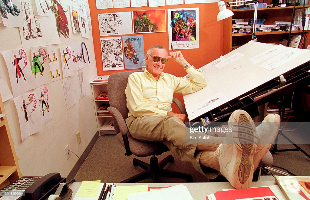 Stan Lee in his Los Angeles Office : News Photo