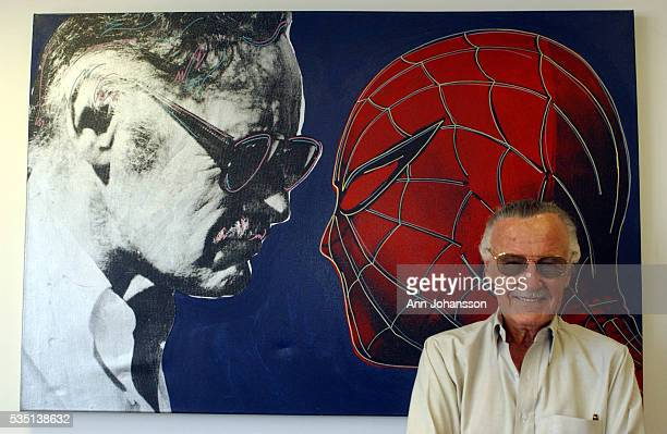 Stan Lee, creator of the modern superhero Spider-Man, photographed at his office in Santa Monica.