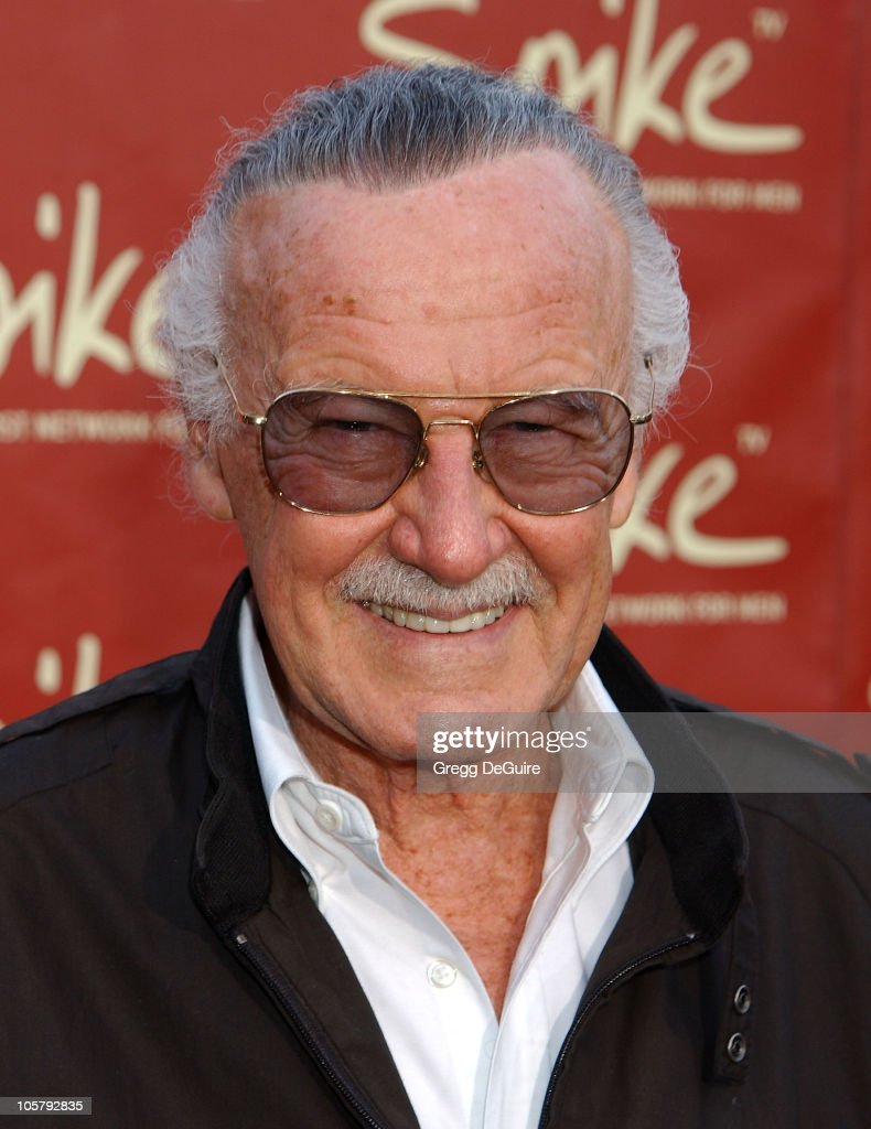 Stan Lee during Launch of Spike TV at the Playboy Mansion at Playboy Mansion in Los Angeles, California, United States.