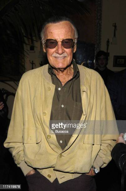 Stan Lee during Launch Party In Bed with Robert Evans on Sirius Satellite Radio at Robert Evans apartment in Woodland Beverly Hills California