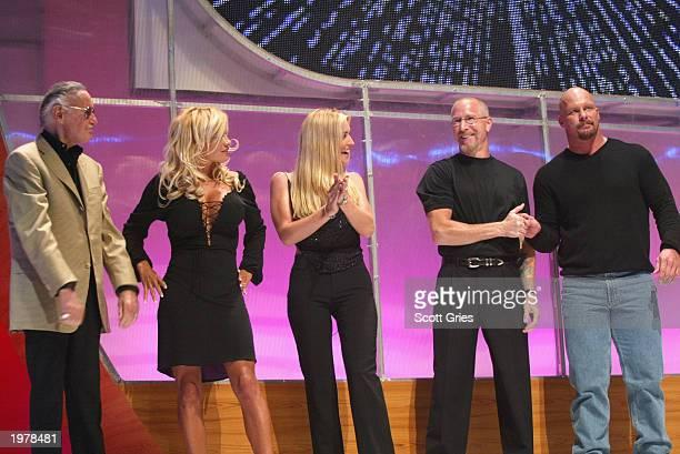 Stan Lee of Stan Lee Media actress Pamela Anderson sports reporter Jill Arrington former president of the NBAs Philadelphia 76ers Pat Croce and...